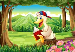 A duck at
